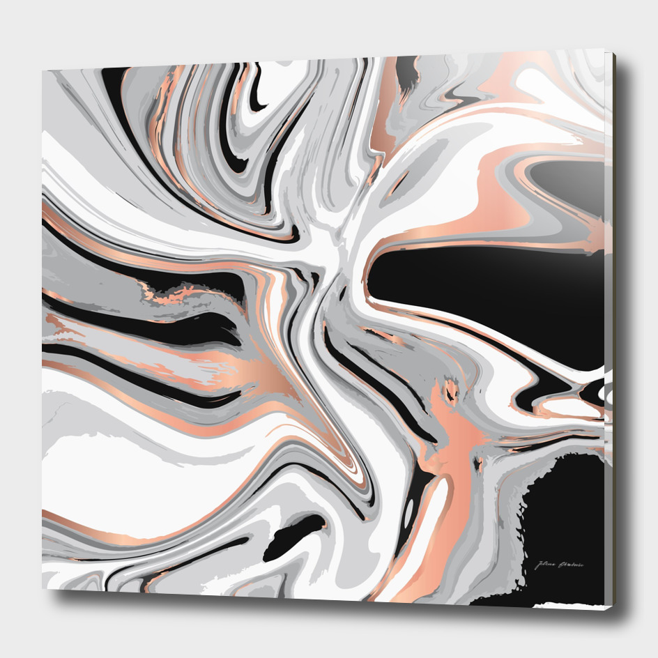 Liquid Marble with Copper Lines 015