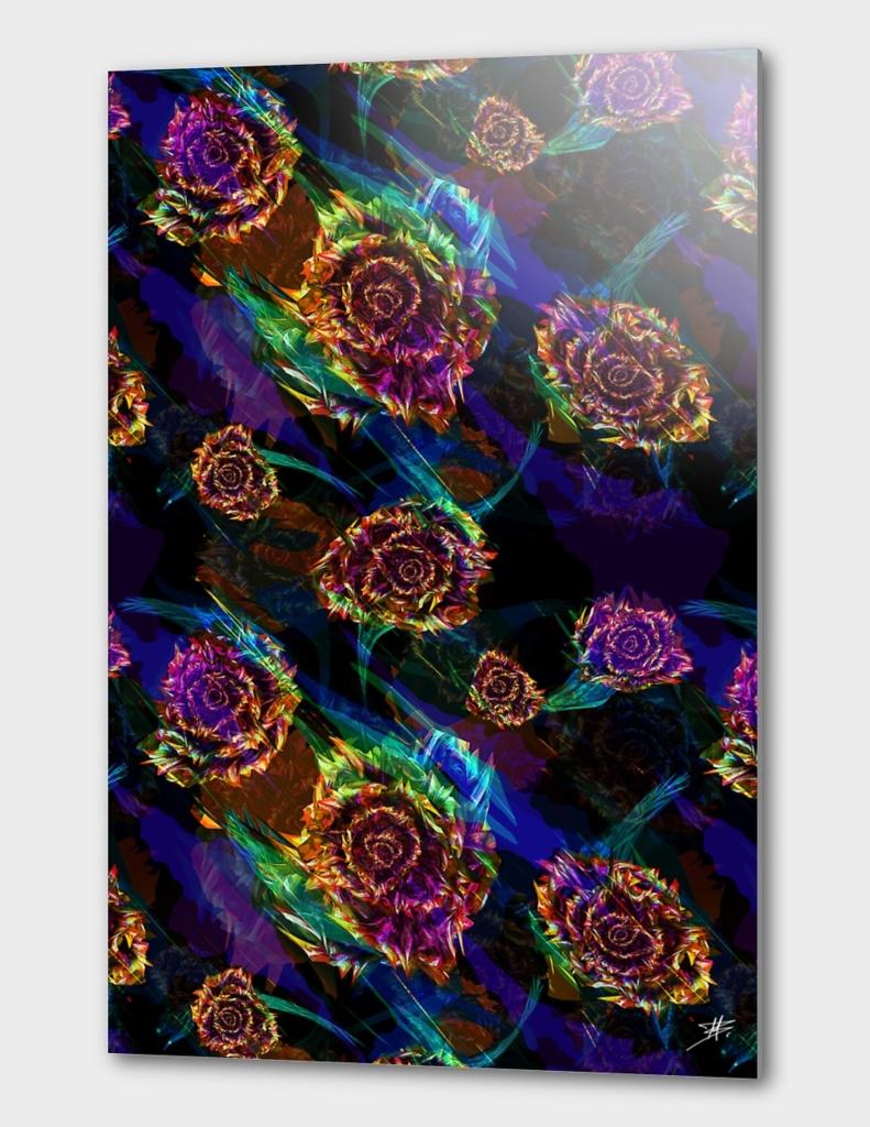 Neon Flower Pattern