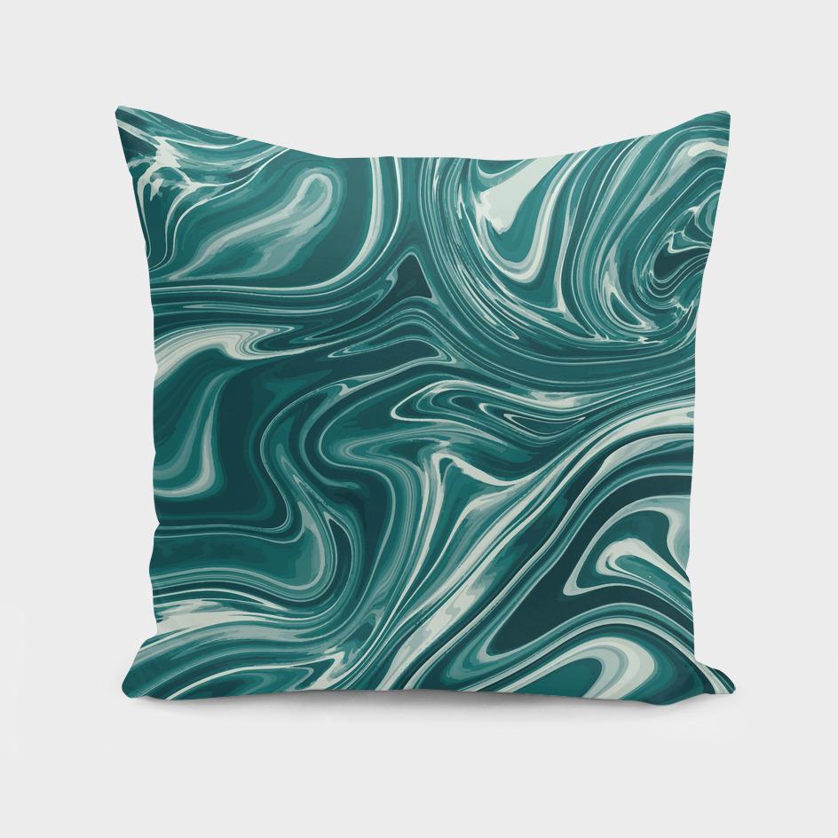 Blue Liquid Marble 030