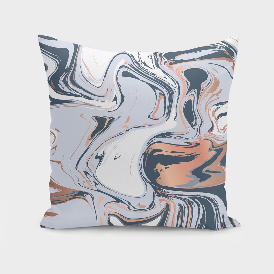 Copper Blues Liquid Marble 016