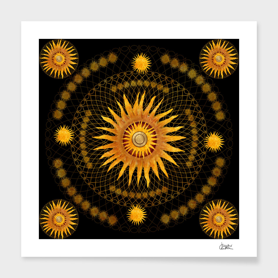 """Black & Gold Vault Mandala"""