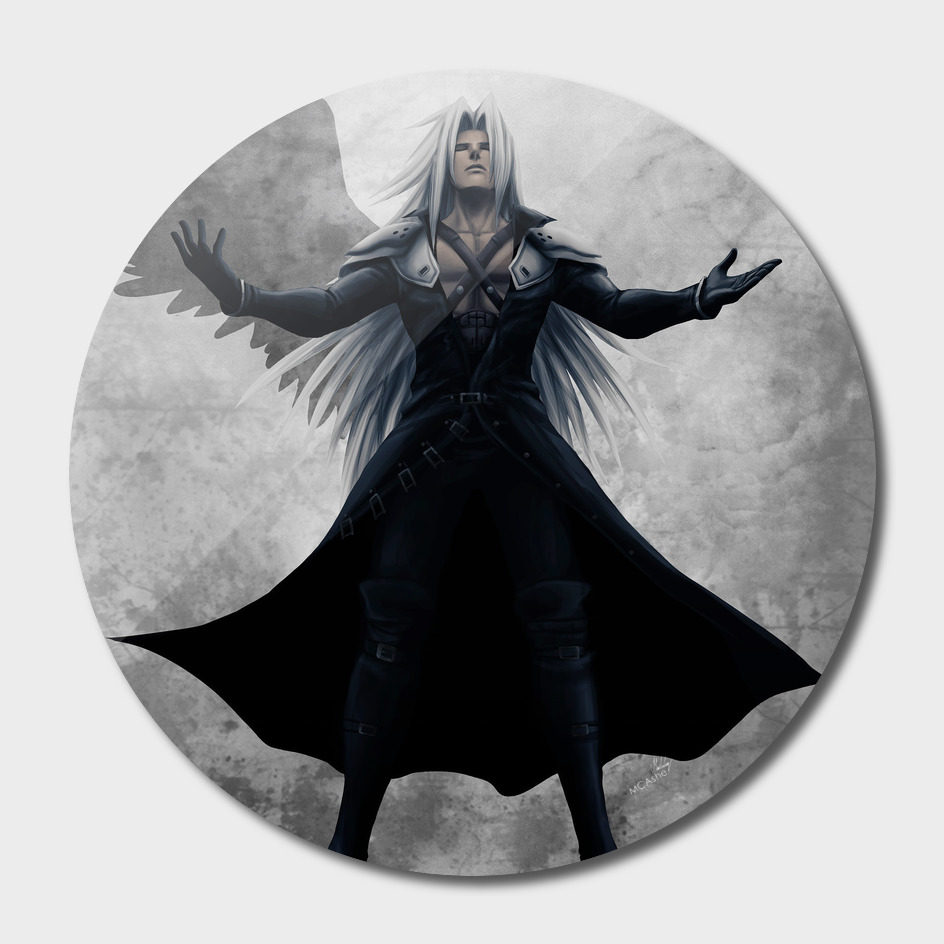 Sephiroth - One Winged Angel FFVII Artwork