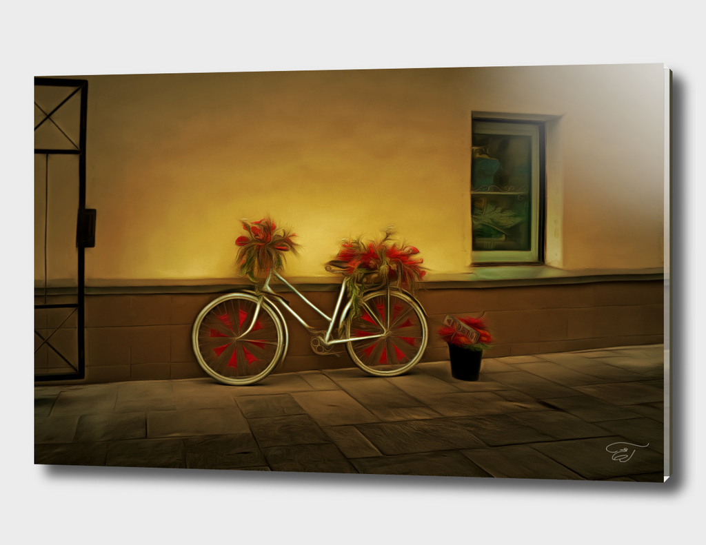 Flower bicycle