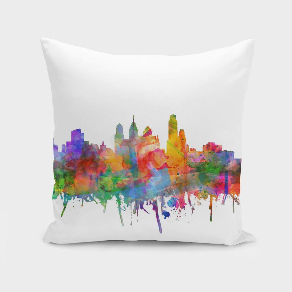philadelphia city skyline watercolor