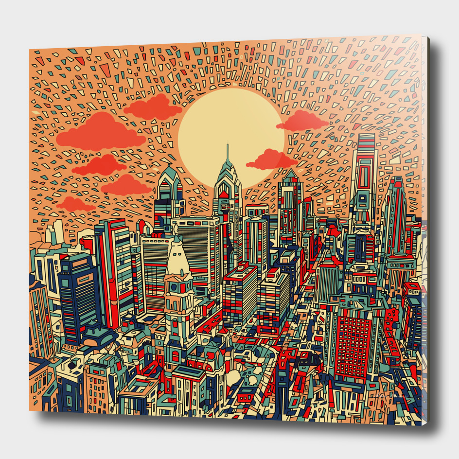 philadelphia cityscape abstract 3