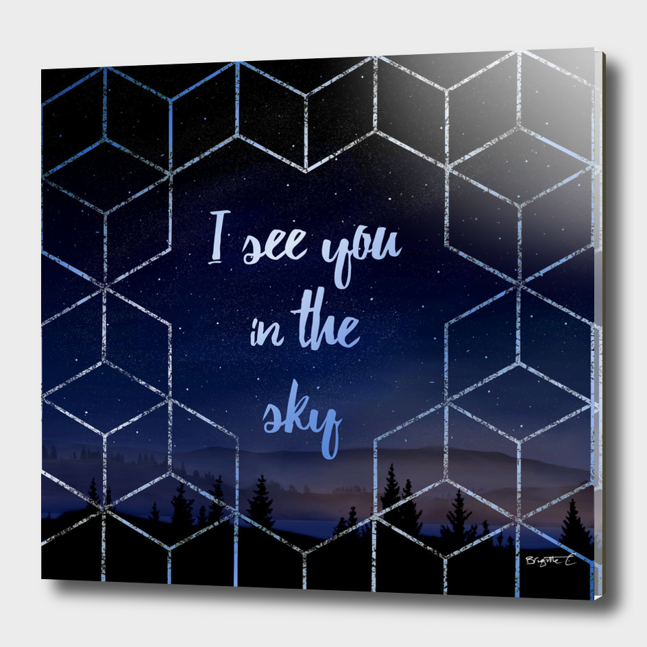 I See You In The Sky Typography Design