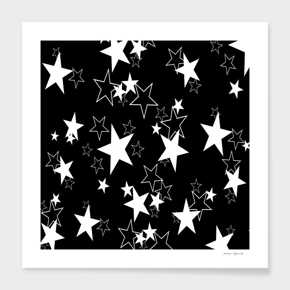 star black white