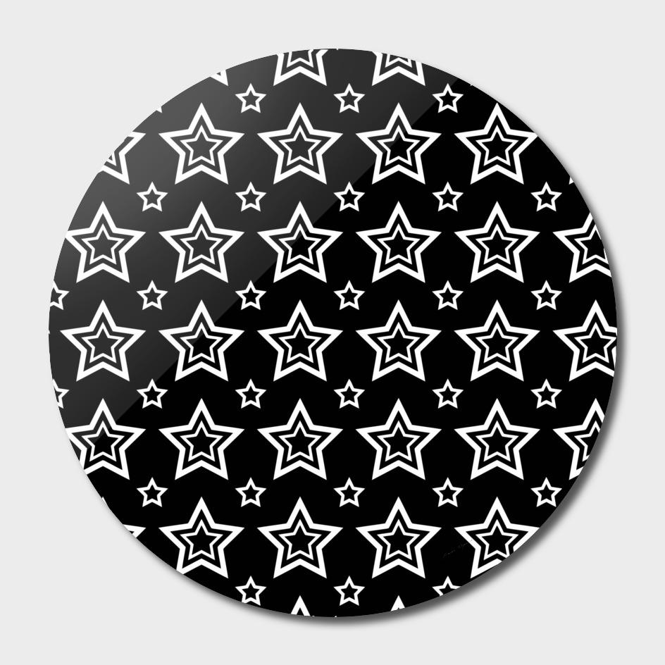 star black white line space
