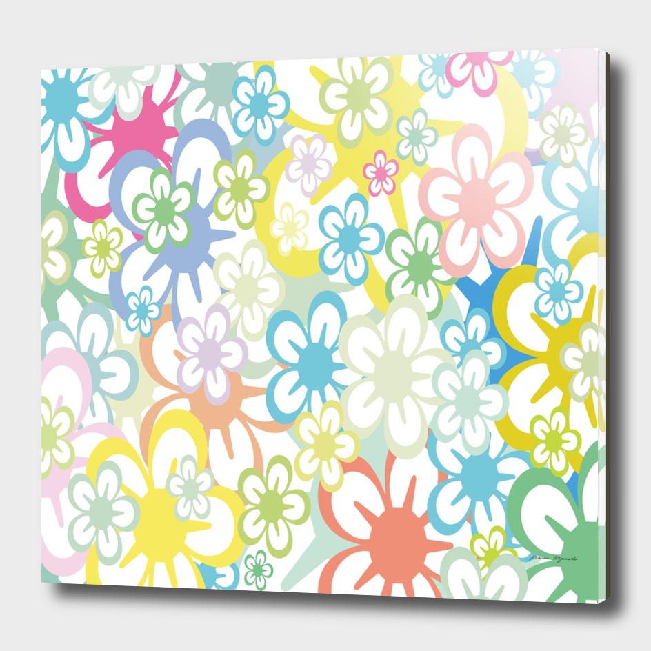 star flower rainbow sunflower sakura