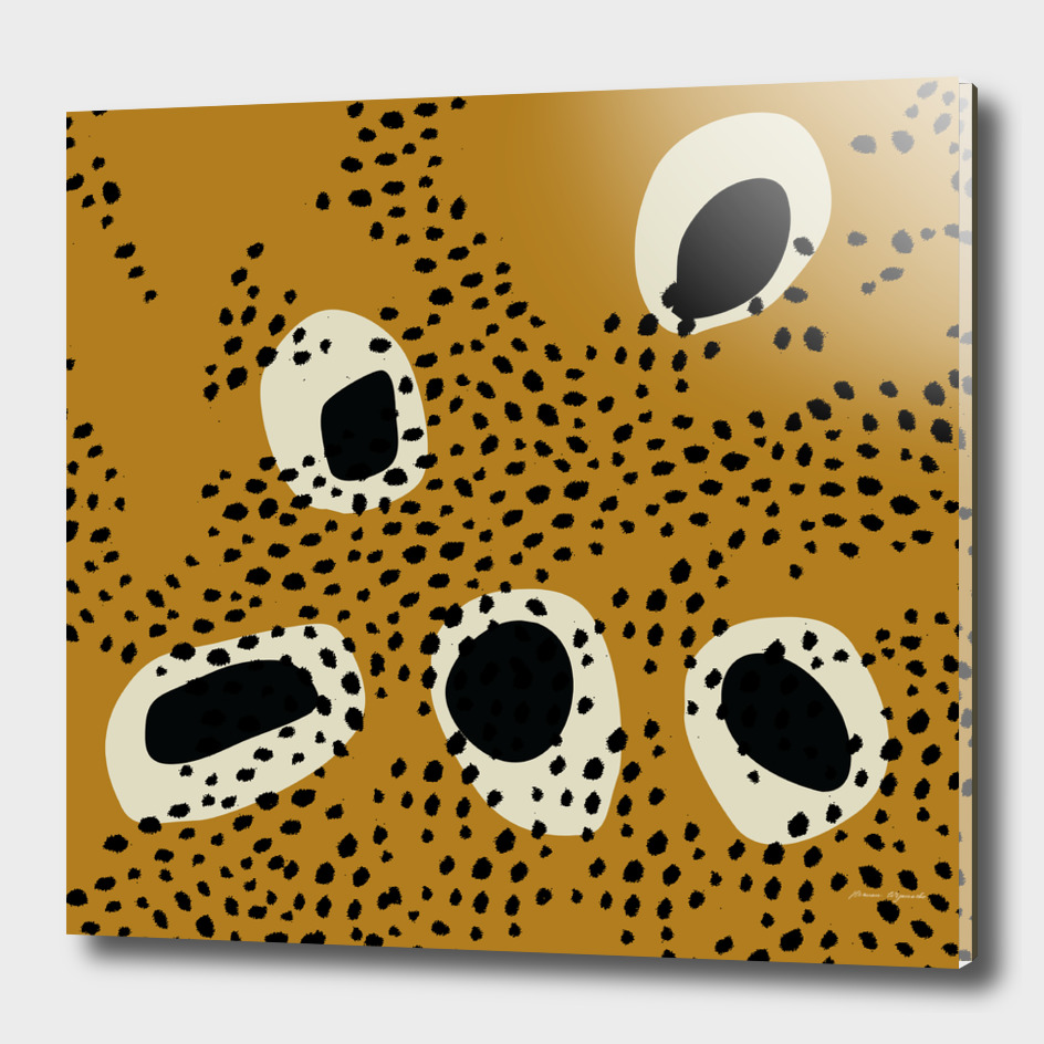 Surface Patterns spot polka dots black