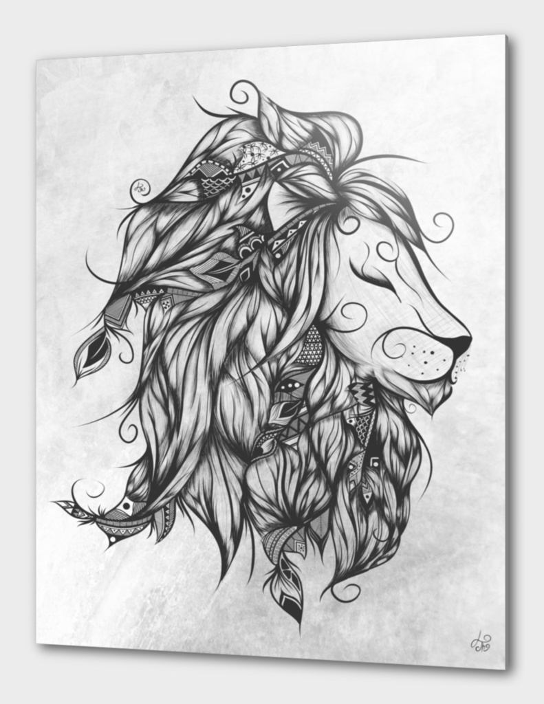 Poetic Lion B&W