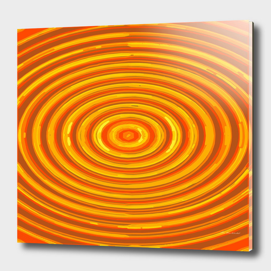 circle pattern abstract in orange yellow brown