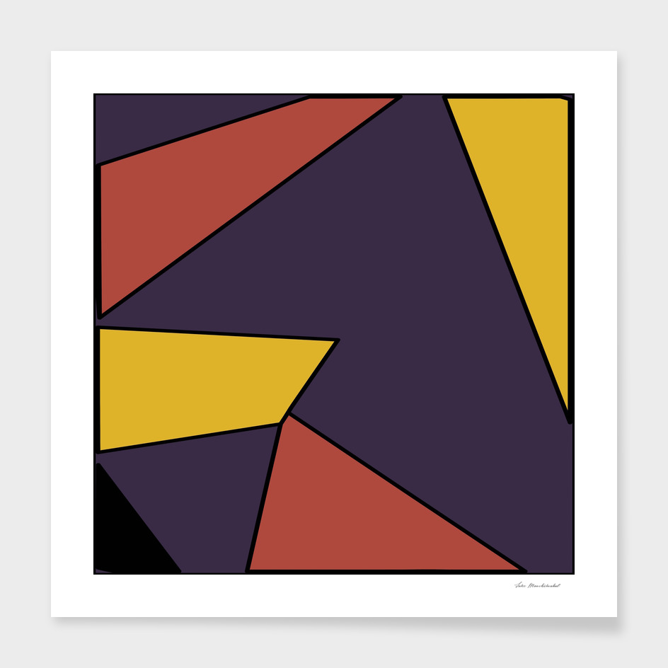 geometric pattern abstract in red yellow blue
