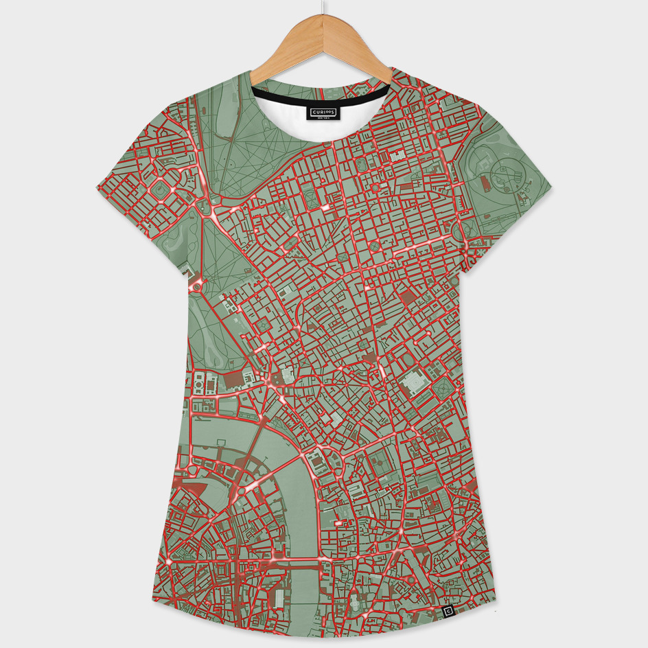 London city map pop