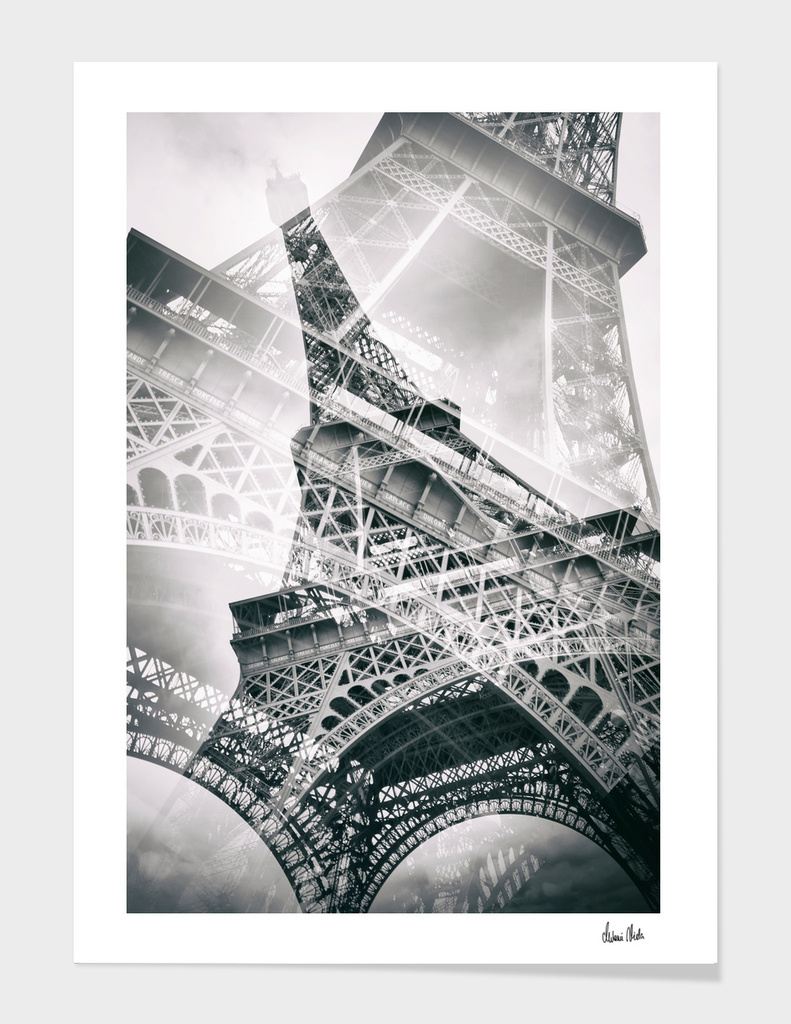Eiffel Tower Double Exposure