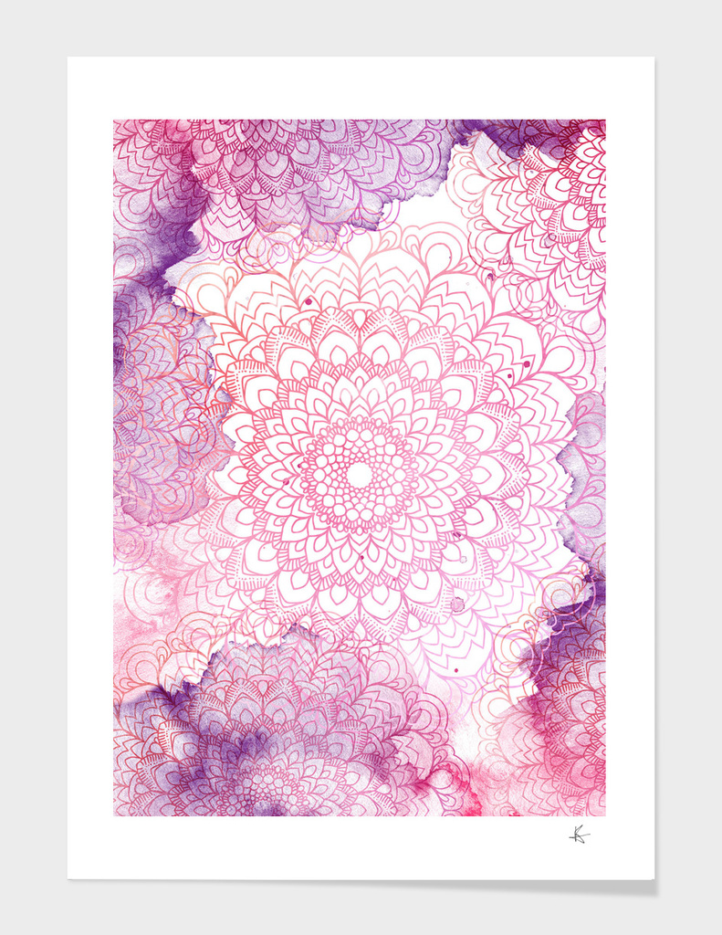 mandala watercolor