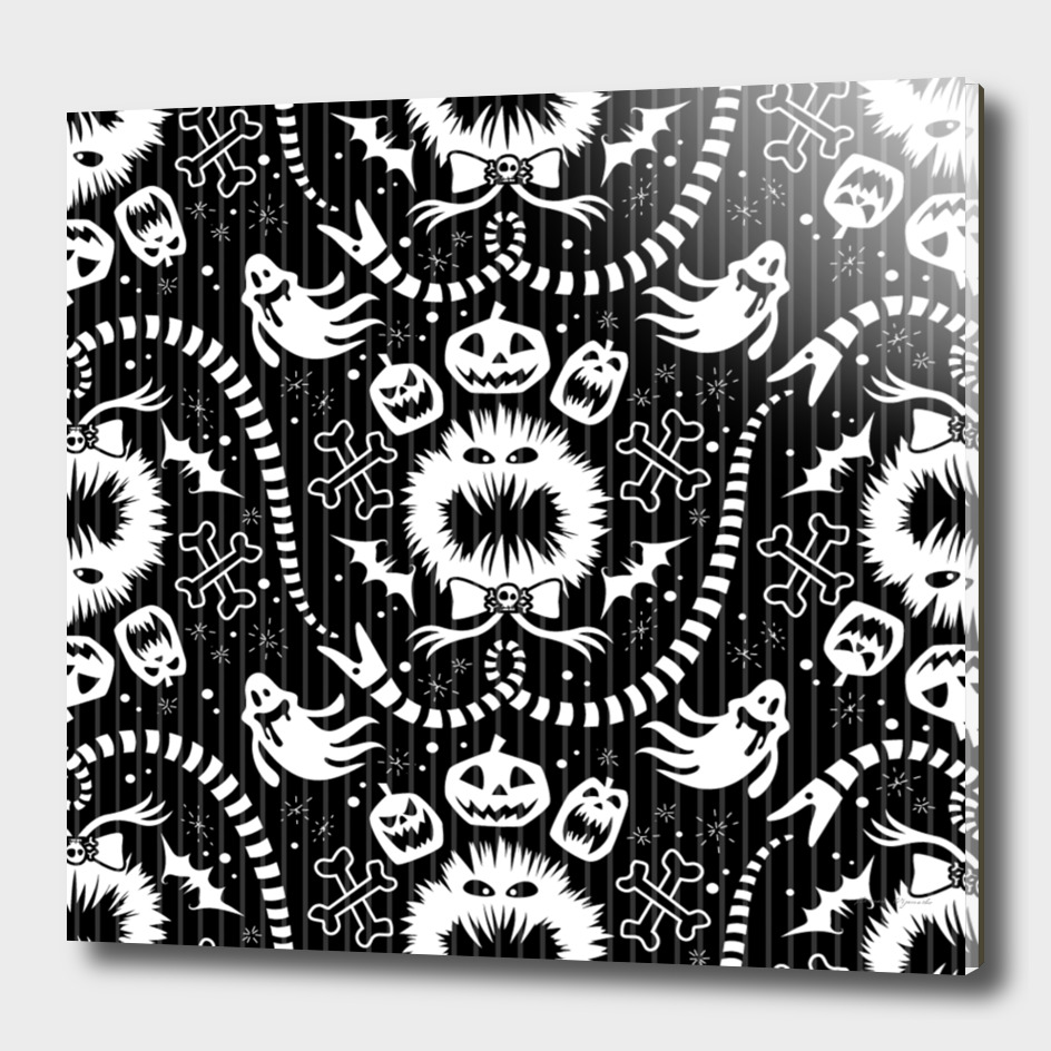 wrapping paper nightmare monster sinister helloween g