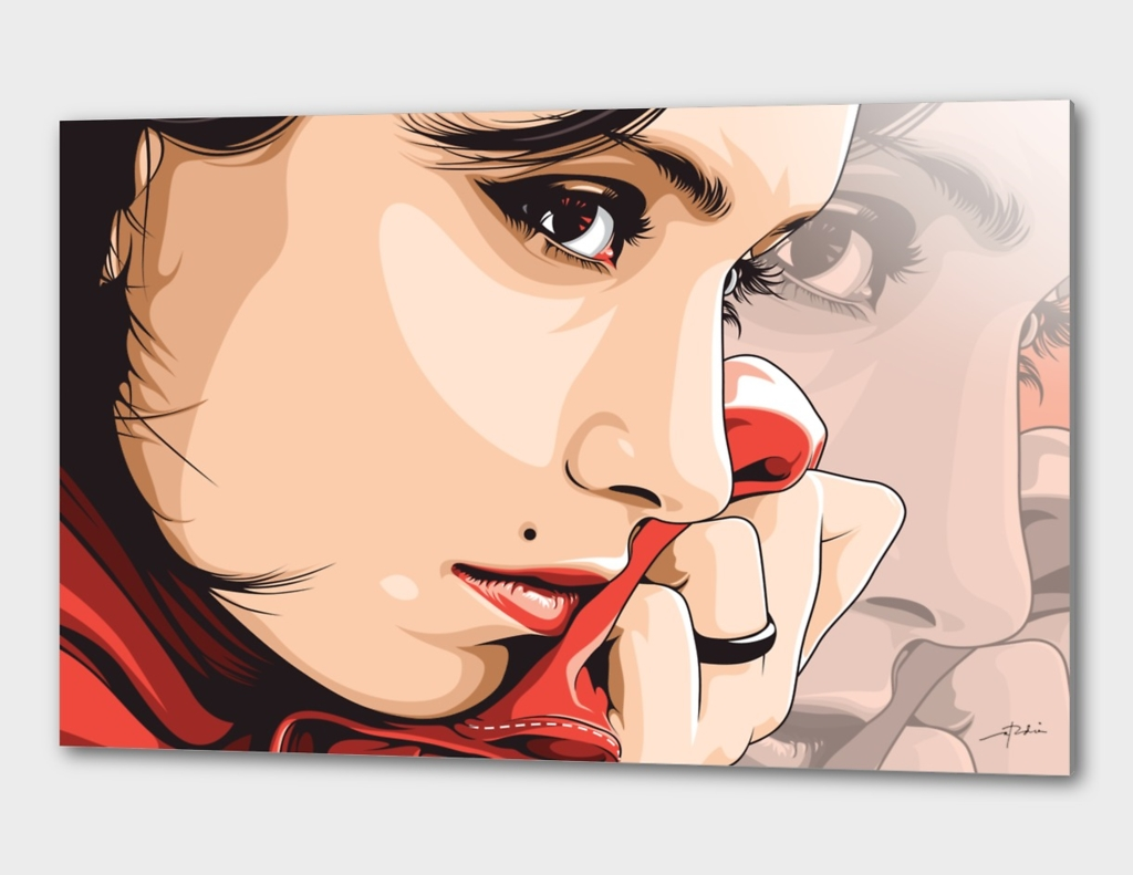 Lady with Red Scarf