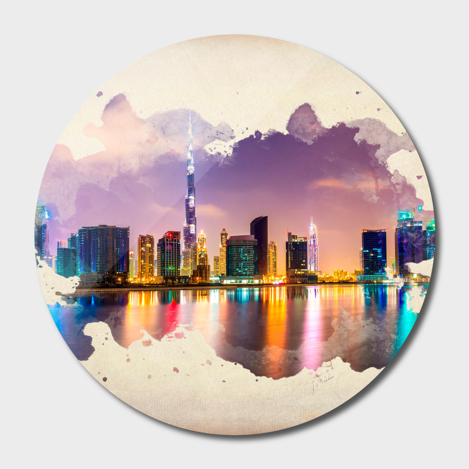 Dubai watercolor