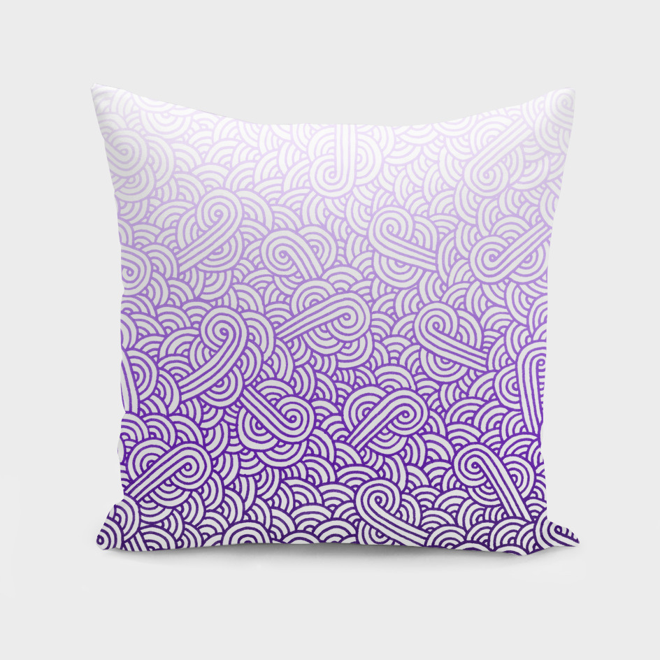 Gradient purple and white swirls doodle