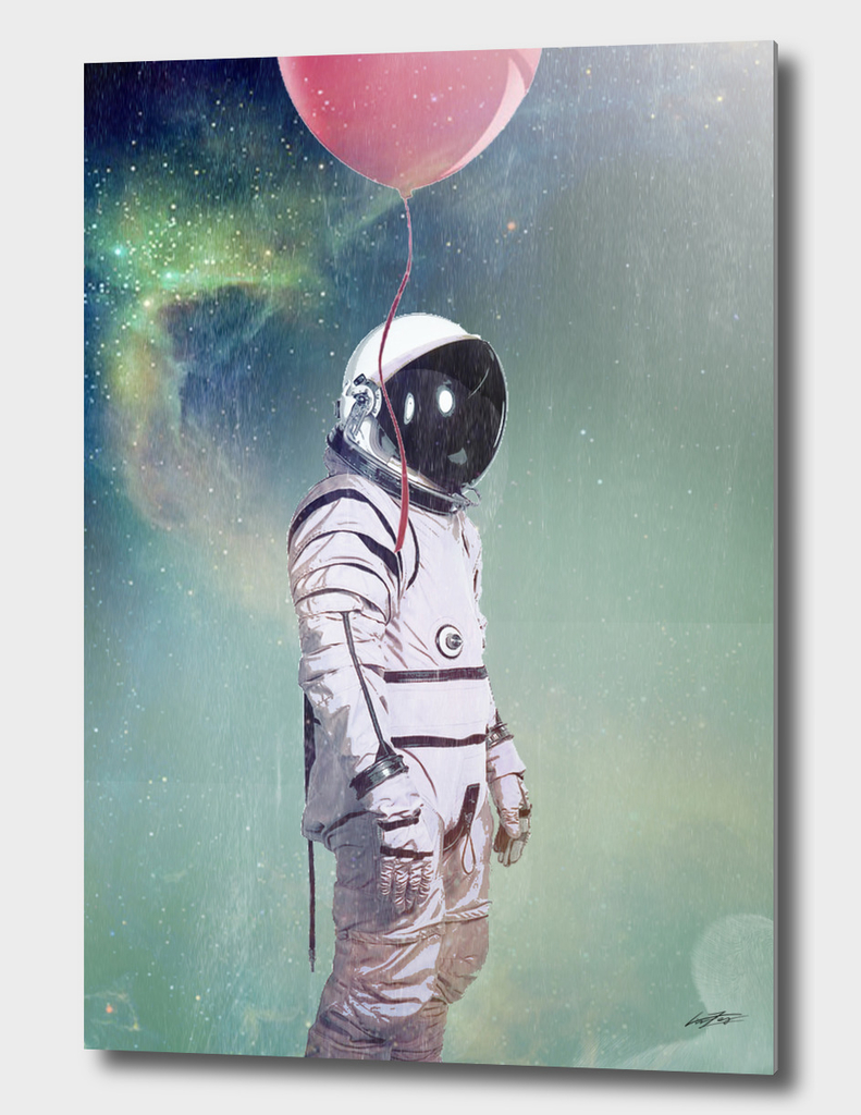 astronaut red balloon