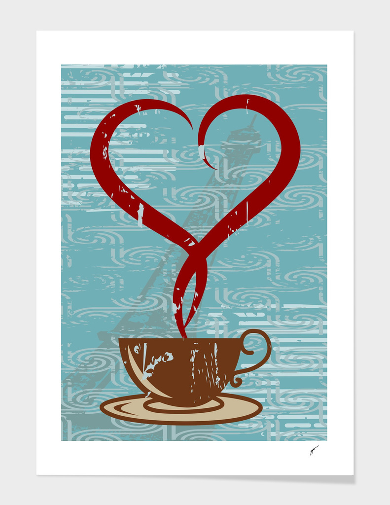 Coffee Poster 54 - Blue Coffee