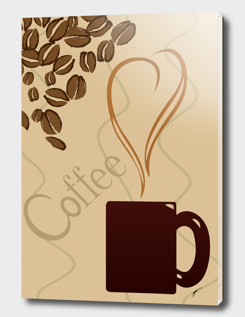 Coffee Poster 55 - Brown Coffee