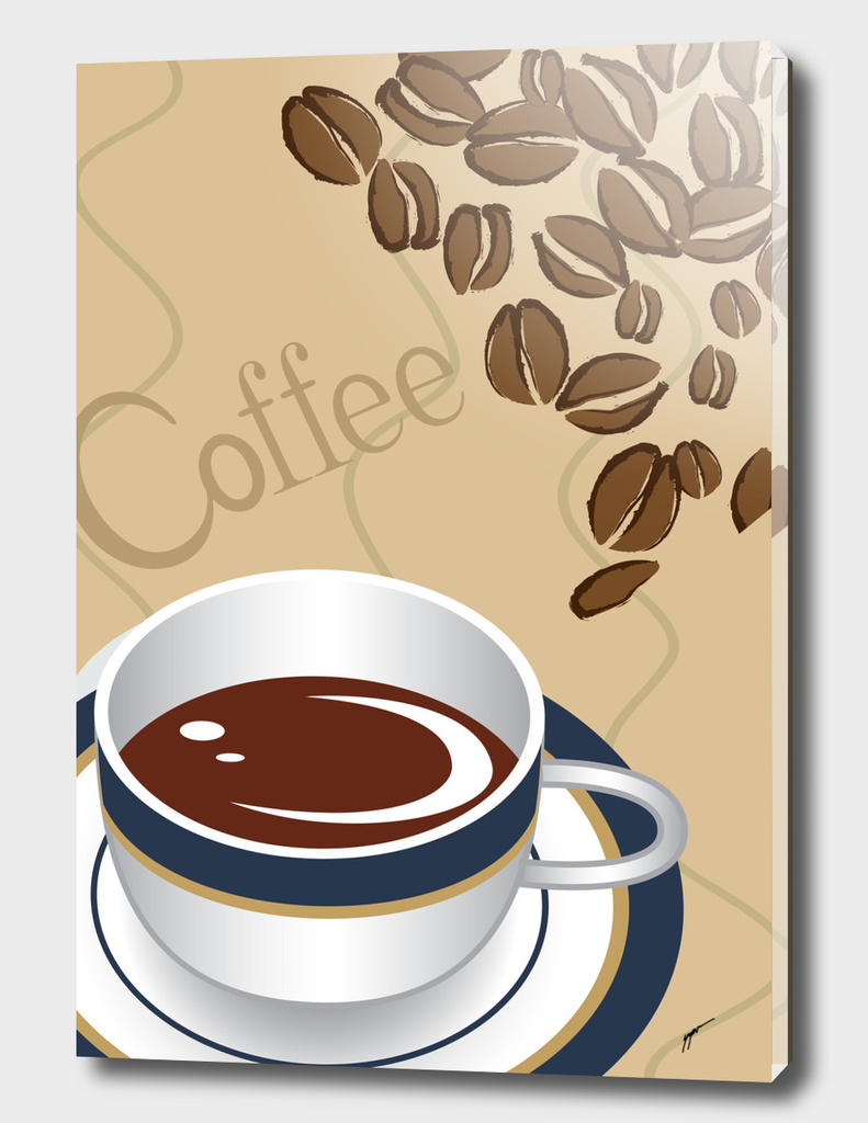 Coffee Poster 57 - White Cup Coffee