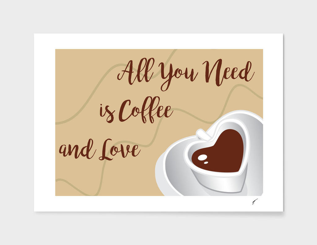 Coffee Poster 58 - Coffee and Love
