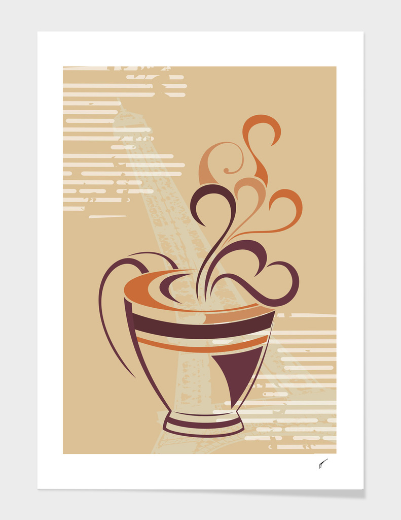 Coffee Poster 59 - Brown Coffee