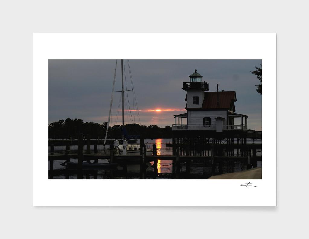 Sunset upon Edenton Bay
