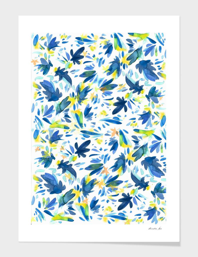 Blu & Yellow Leaves