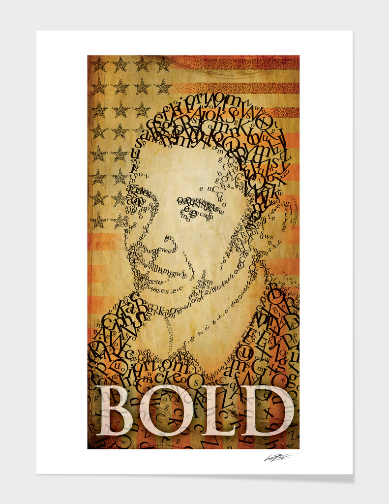 Barac Obama graphic Icon bold