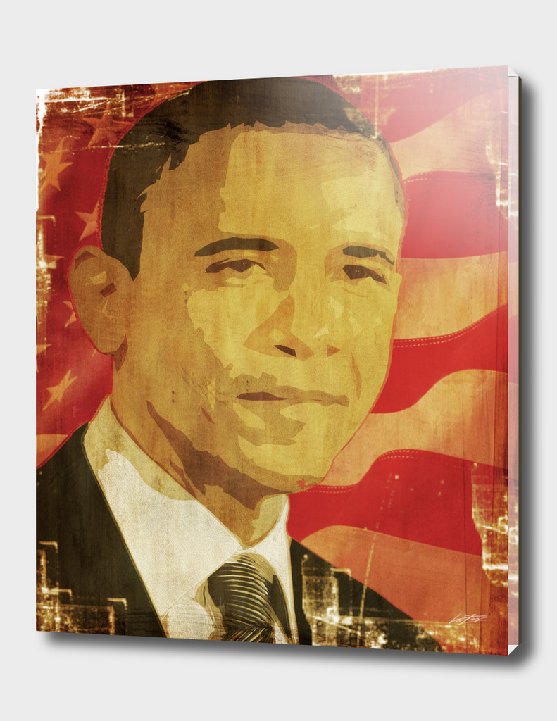 Barac Obama graphic Icon