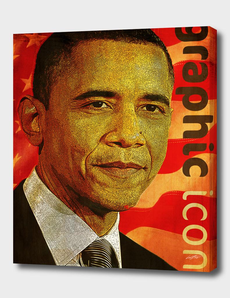 Barac Obama graphic icon02
