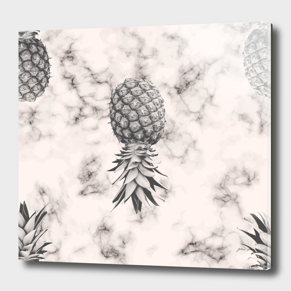 Marble Texture Seamless Pattern Pineapple 052