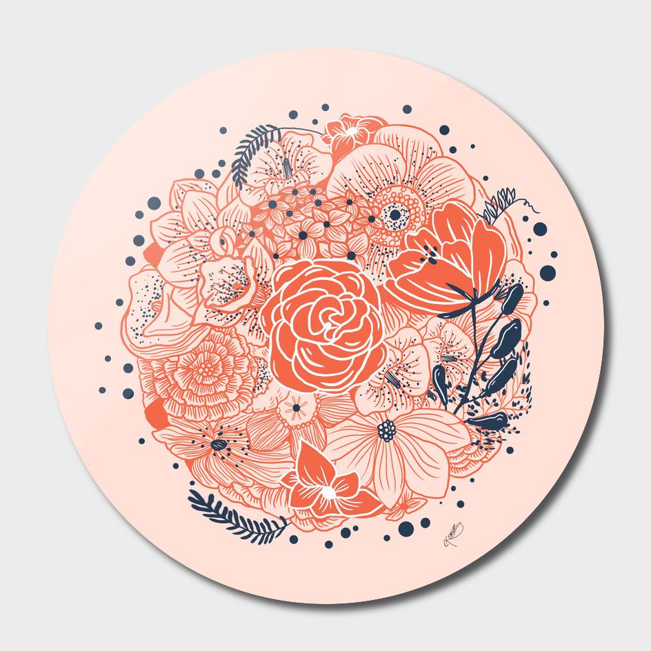 circular flowers