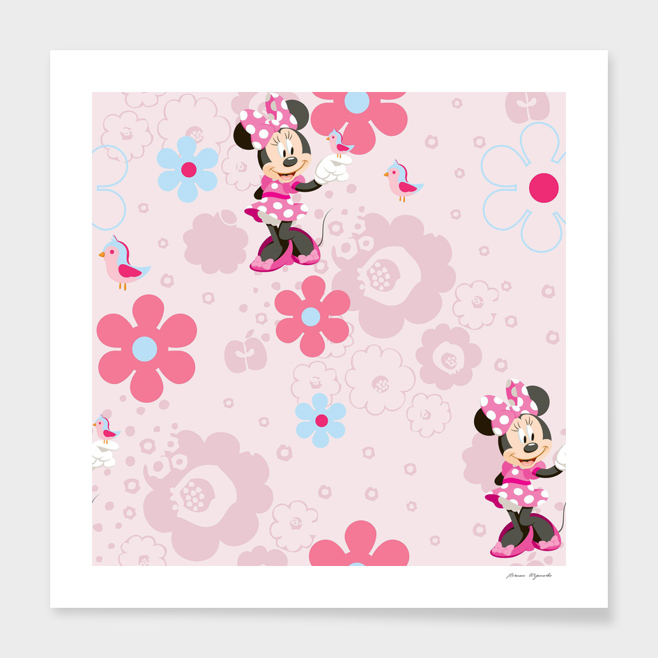 Disney Minnie Mouse Flower Pink