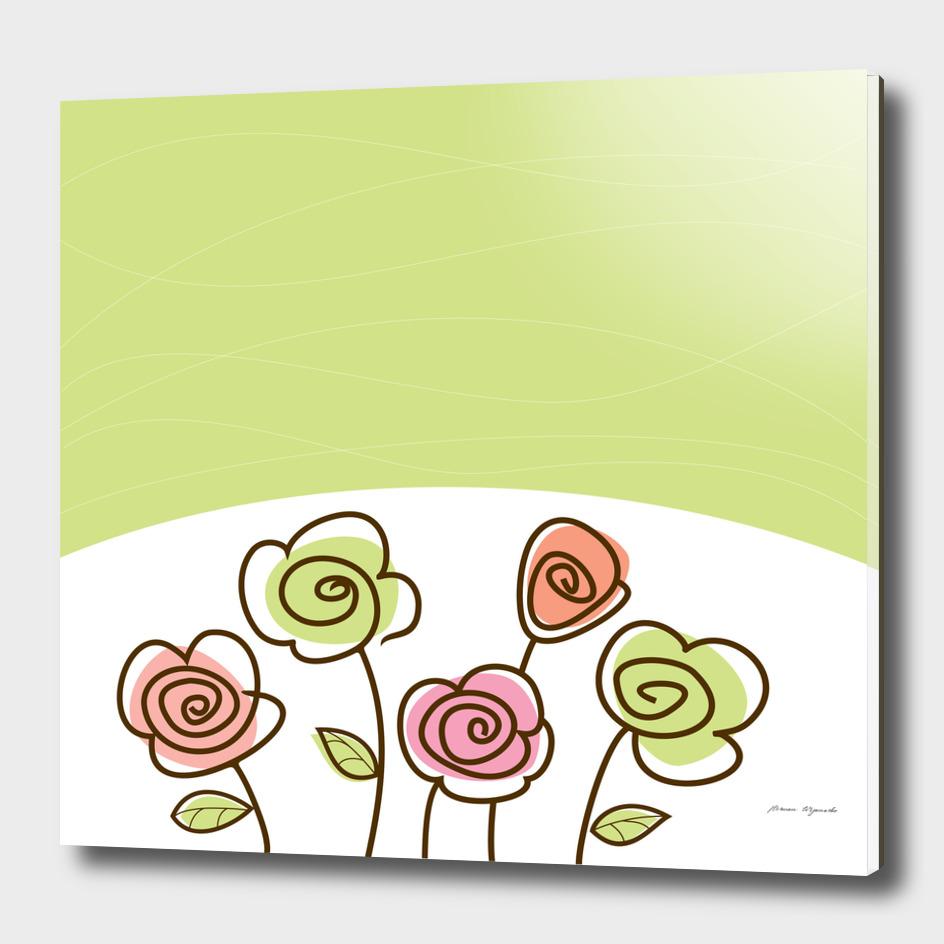flower simple green rose sunflower sexy