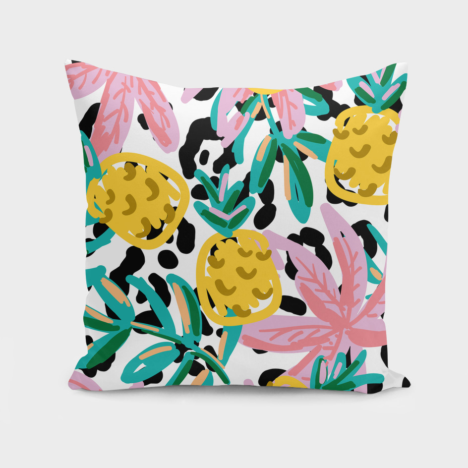 fruit pattern pineapple leaf