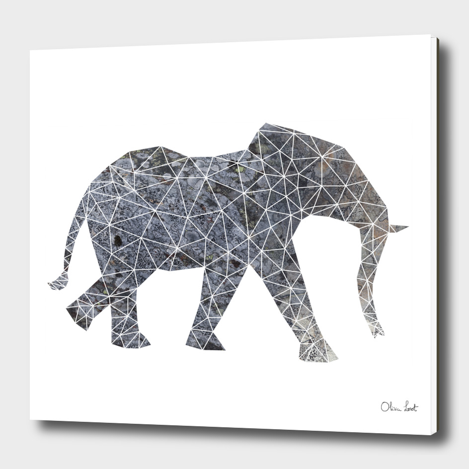 Geometric elephant grey