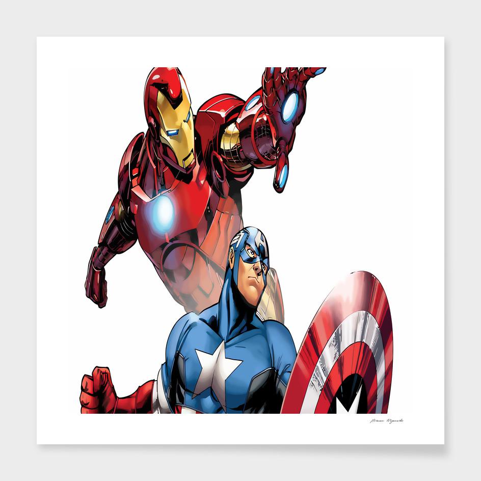 Iron Man Captain America superhero