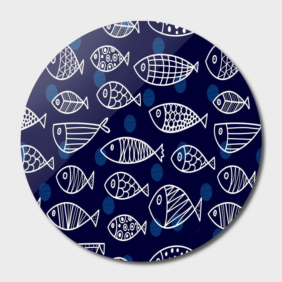 love fish seaworld swim blue white sea water cartoons