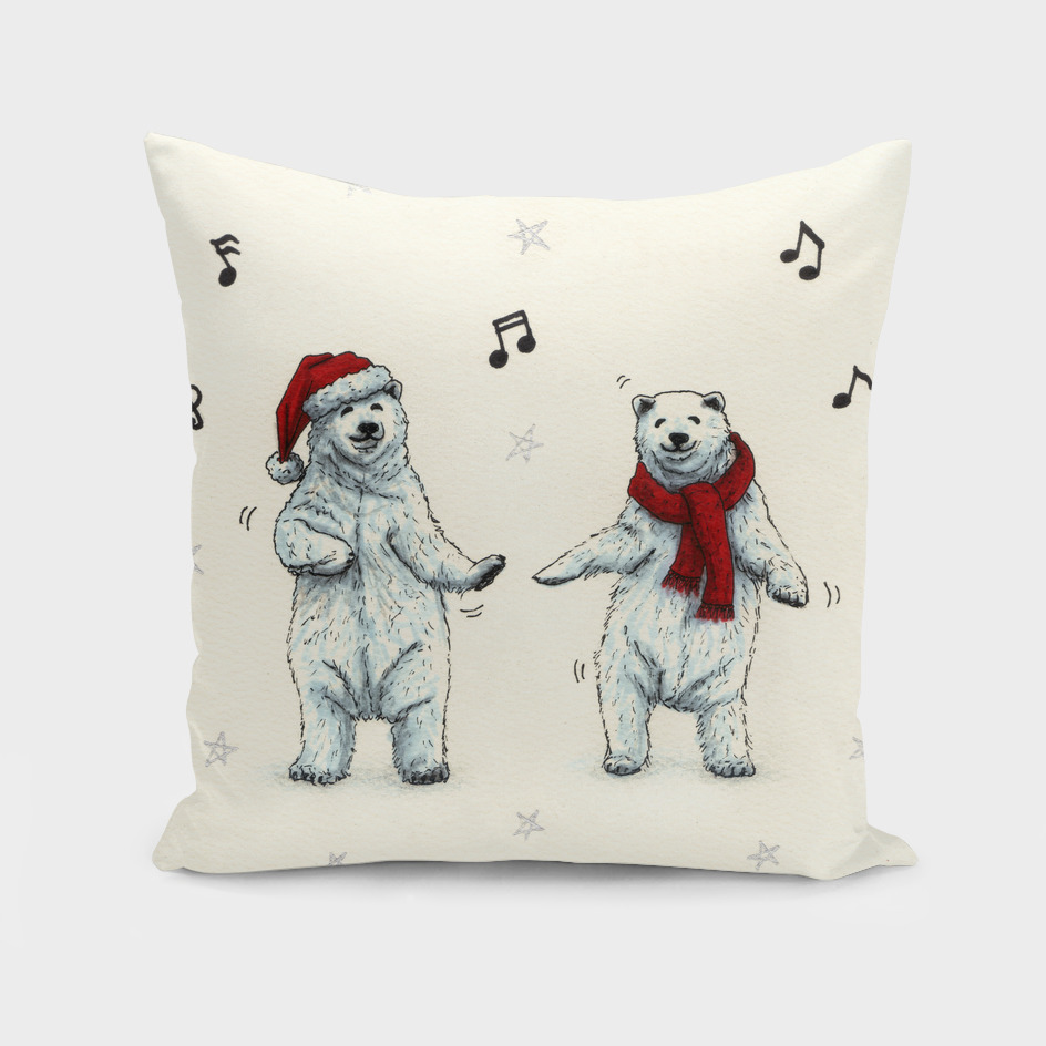 The polar bears wish you a Merry Christmas