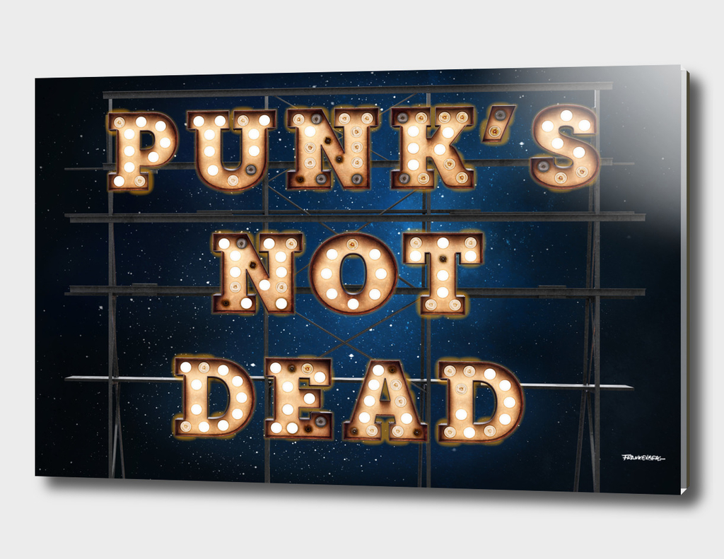 Punks not Dead - Wall-Art for Hotel Rooms