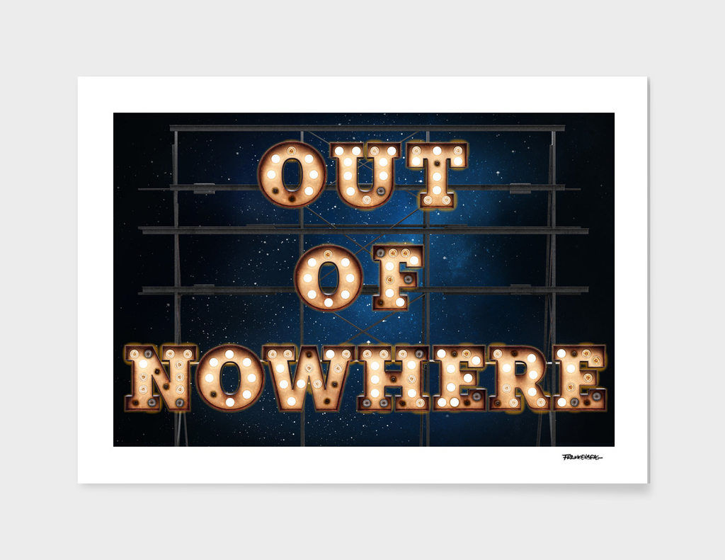 Out of Nowhere  -  Wall-Art for Hotel-Rooms