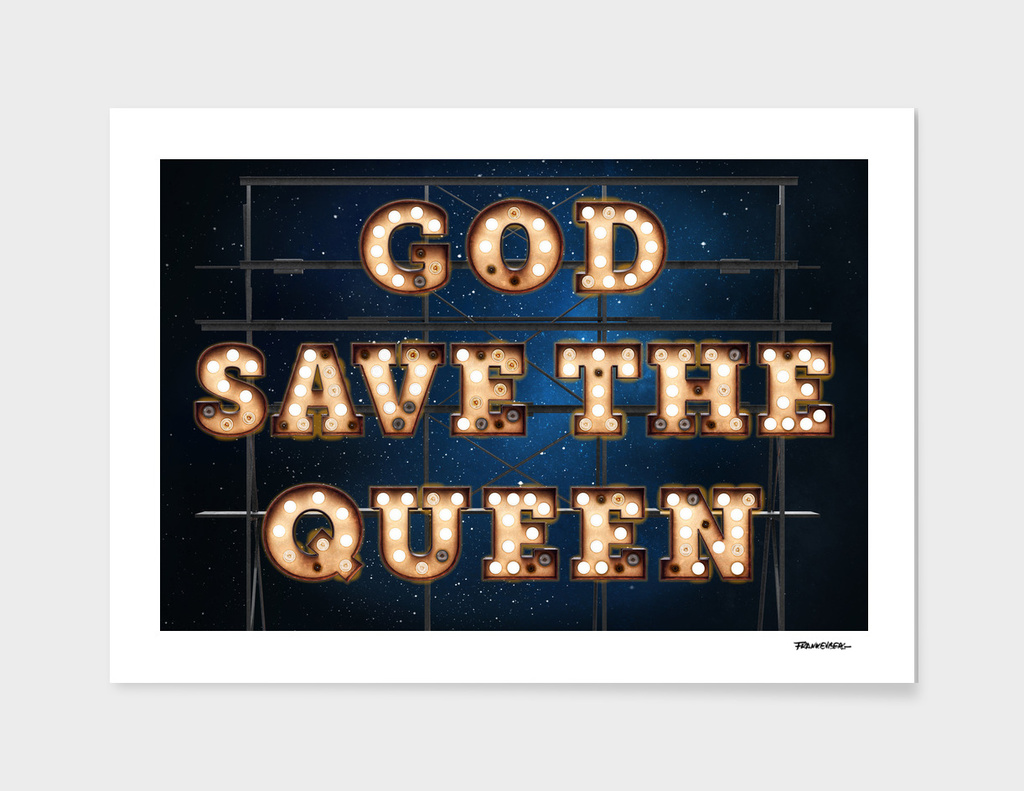 GOD SAVE THE QUEEN - Wall-Art for Hotel-Rooms