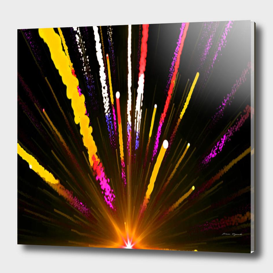 seamless colorful light fireworks sky black ultra