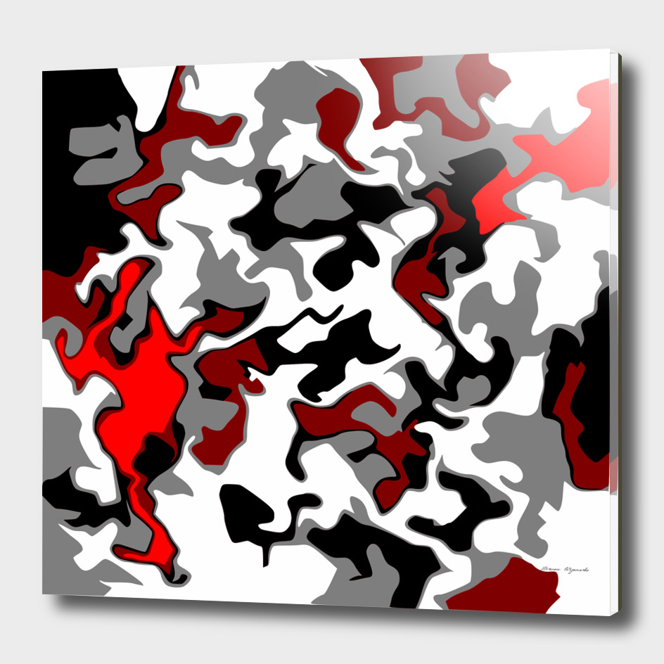 Vector Red black white camo advance