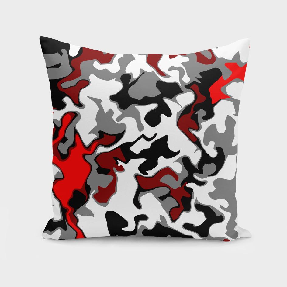 Vector Red black white camo advance